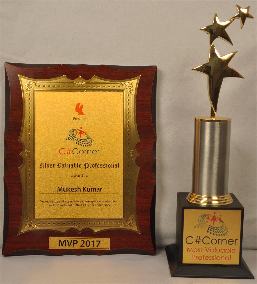 Csharp Corner MVP 2016 Mukesh Kumar