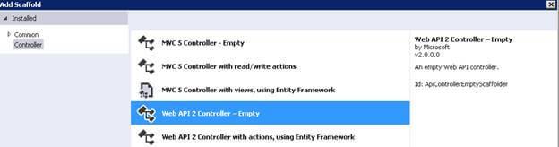 Add Web API