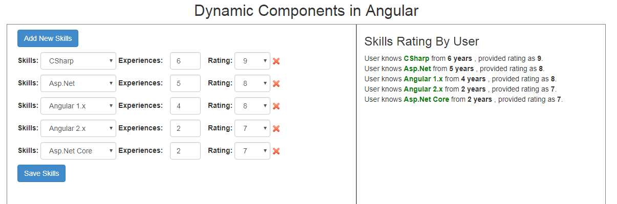 Create Dynamic Angular Component