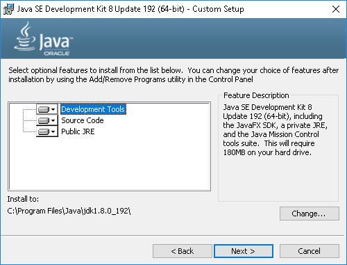 Java SDK Select Components