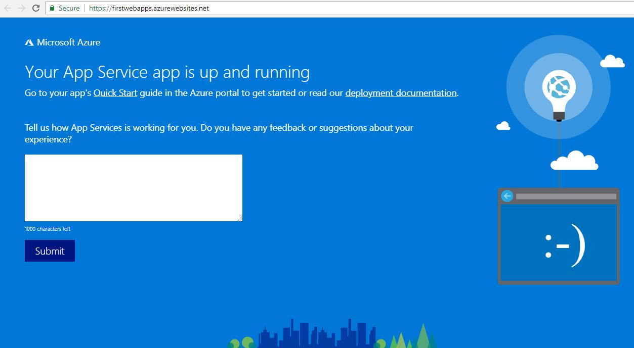 Web App Running