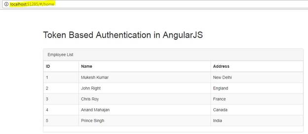 Token Based Authentication in AngularJS