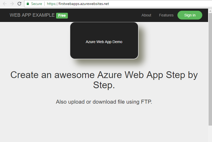 Azure Web Apps Demo