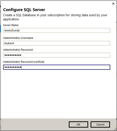 Configure Azure Sql Server