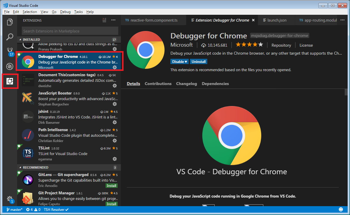 Debugging for chrome