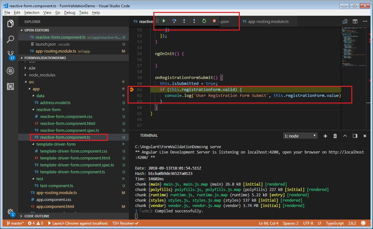 typescript debuggin
