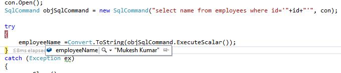 Execute Scalar
