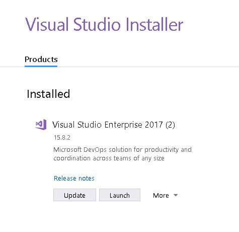 Visual Studio update