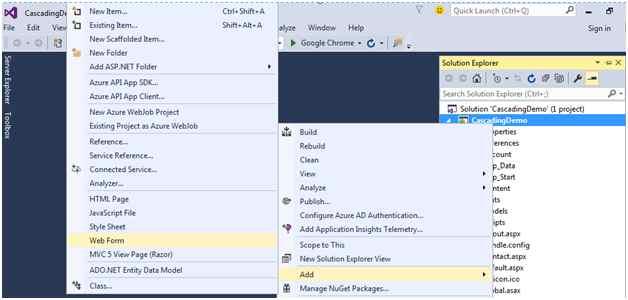 Cascading DropDownList In ASP NET | Mukesh Kumar