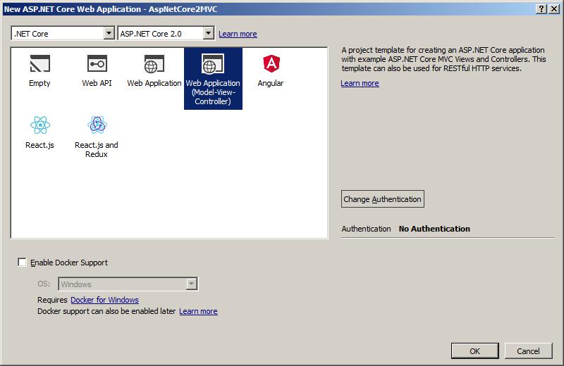Asp.Net Core MVC 2 Template