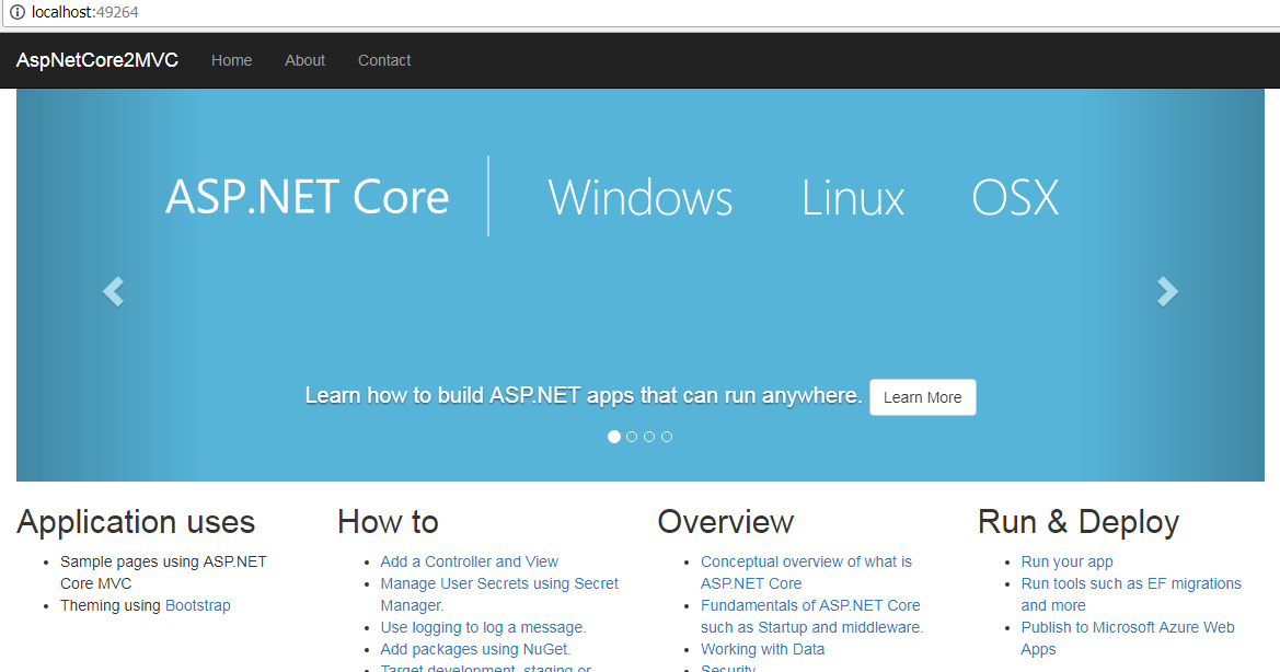 Asp.Net Core MVC 2 First Application