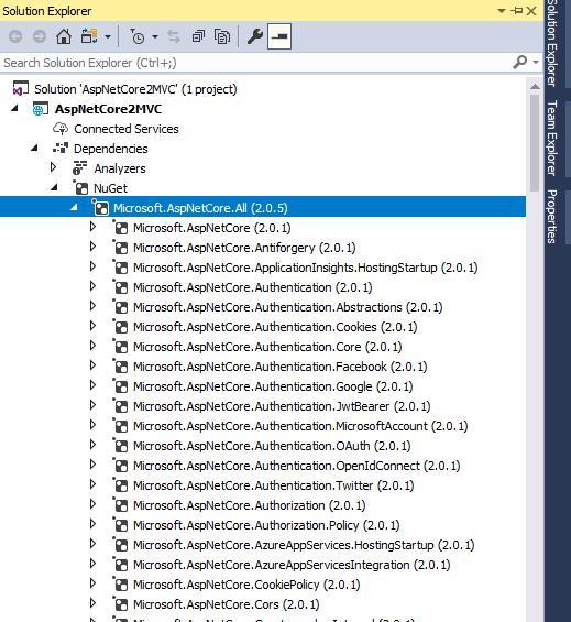 Asp.Net Core 2 Meta Packages