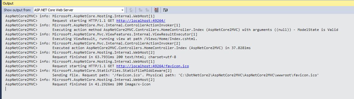 Asp.Net Core Web Server