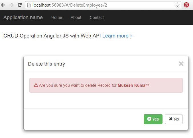 AngularJS CRUD Operations With Web API | Mukesh Kumar