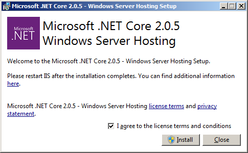 .Net Core 1.0 Hosting