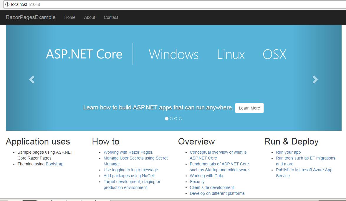 Razor Page in Asp.Net Core